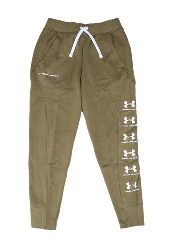 Under Armour green Rival Jogger Pants C719BKAE045565GS_1