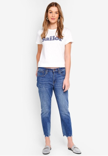 J.Crew blue Slim Boyfriend Jeans With Medium Destructed Hem DB8D0AA2CE7AA8GS_1