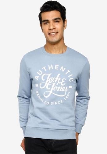 Jack & Jones blue Hero Crew Neck Sweatshirt B20EAAA7964FE4GS_1