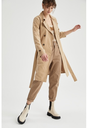 DeFacto brown Woman Outer Wear Trenchcoat 4F328AAA9F382DGS_1