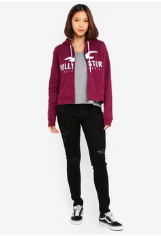 847a95c42e1f 40% OFF Hollister Logo Crew Zip Hoodie RM 281.00 NOW RM 168.90 Sizes XS S M  L