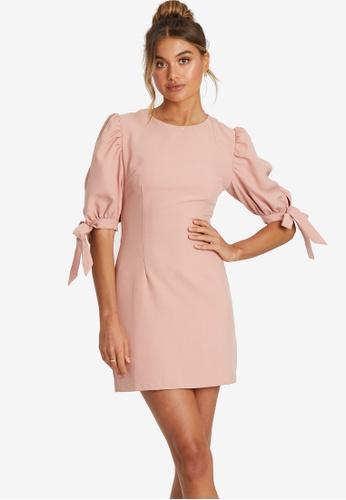 Savel pink Liviana Mini Dress 5CC89AA414E5ACGS_1
