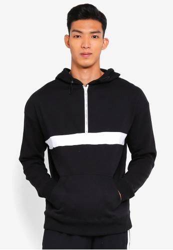 Cotton On black Drop Shoulder Pullover Fleece Hoodie 20B99AAB7FAA7BGS_1