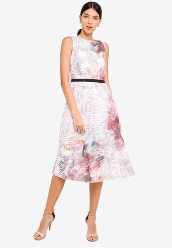 Little Mistress multi Line Print Midi Dress A8692AA56BBDDFGS_1