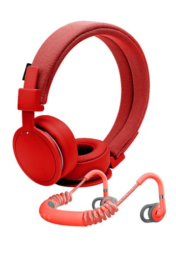 UrbanEars red Urbanears PLATTAN ADV BT headphone - Tomato & STADION sports earphones-Red Bundle set 7AB25AC9830A21GS_1