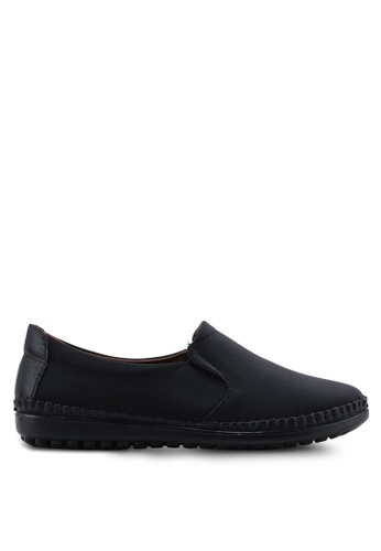 Louis Cuppers black Casual Slip Ons C9D9ASHC3411F4GS_1