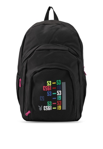 Playboy black Playboy Casual Backpack PL371AC0SJZ7MY_1