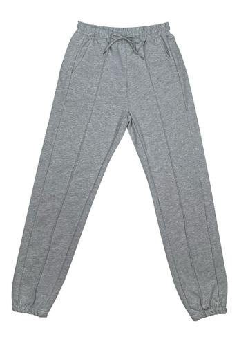 DRUM grey Casual Sweatpants- Grey EB9DEAAA159DFEGS_1
