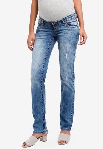 Mama.licious blue Maternity Boston Straight Jeans 4E108AA9D4E070GS_1