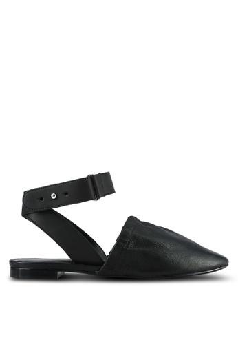 Mango black Slingback Leather Shoes MA193SH0RVY5MY_1