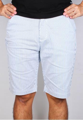 Moley white Men Striped Bermudas 3DFF5AA377727DGS_1