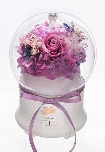 Her Jewellery purple Everlasting Preserved Rose - Rose Humidifier (Light Purple) 33AABHLA7CF04BGS_1