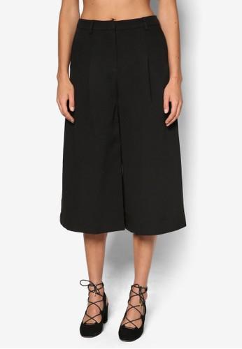 褶esprit taiwan飾五分寬管褲, 服飾, 長褲及內搭褲