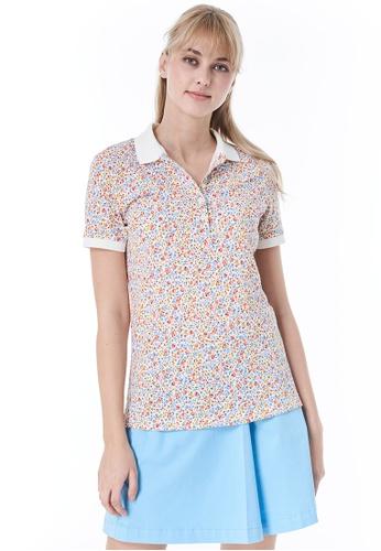 United Colors of Benetton white Printed Polo shirt 461AEAAB5A9780GS_1