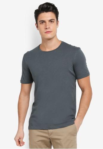 Sisley 綠色 竹節棉基本款短袖T恤 15200AA0570BD1GS_1