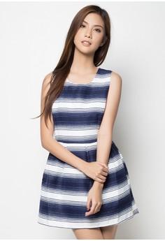 Arianna Colors and Stripes 1 Sleeveless Dress