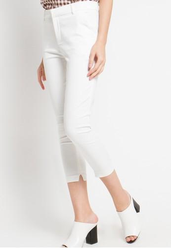 Raspberry white Sandra Capri Pants RA572AA21AKSID_1