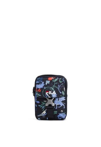 FILA navy FILA Logo Floral Printed Crossbody Bag 1DAC9ACB51F6CAGS_1
