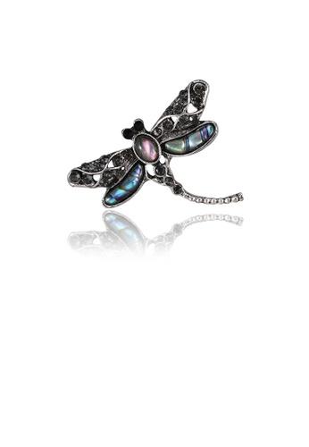 Glamorousky black Fashion and Elegant Blue Dragonfly Brooch with Cubic Zirconia 65C95AC5FDDEDAGS_1