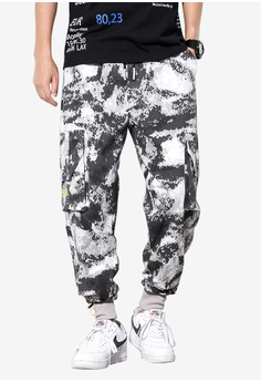 88ef33eaebad3 hk-ehunter grey Men's Multi Pockets Camo Ankle Pant - Grey  37AD6AA6A5687EGS_1