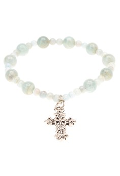 Birthstone Rosary Bracelet in Aquamari