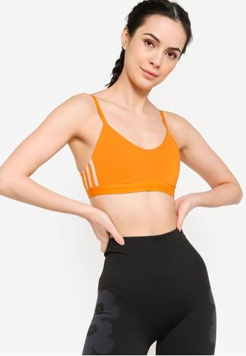 ADIDAS orange all me 3-stripes bra D6E68US028F69BGS_1