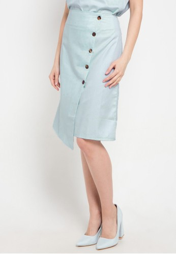 Noche blue Alma Skirt 214BBAA21343F1GS_1