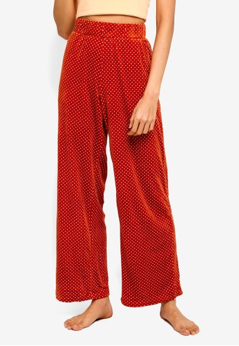 Cotton On Body red Luxe Wide Leg Pants F76A3AABC4E874GS_1