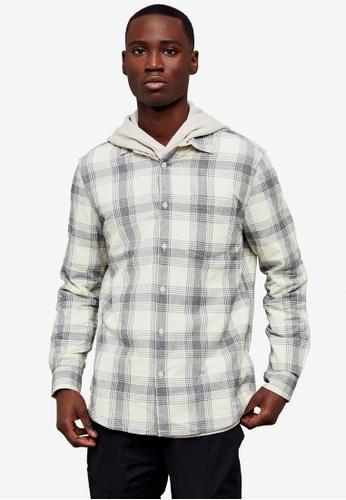 Topman grey Grey Salt & Pepper Check Slim Shirt 54472AAF5C264EGS_1