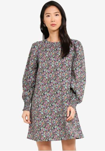 Vero Moda black Nilda Puff Flower Dress 24DC0AAE523619GS_1