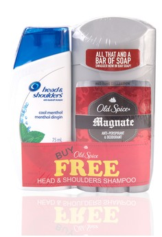 Invisible Solid Magnate with Free Head and Shoulders Shampoo Cool Menthol 75ml