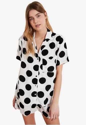 Trendyol white 2-Piece Printed Pajamas Set D0B93AAC4AB173GS_1