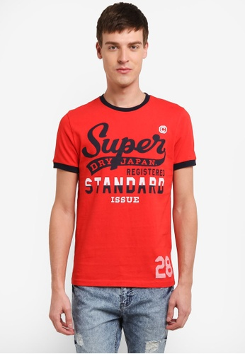 Superdry red Standard Issue Ringer Tee SU137AA0SI1QMY_1