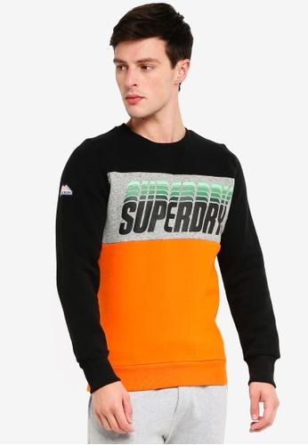 Superdry 黑色 撞色棉T 23541AAD4D8282GS_1