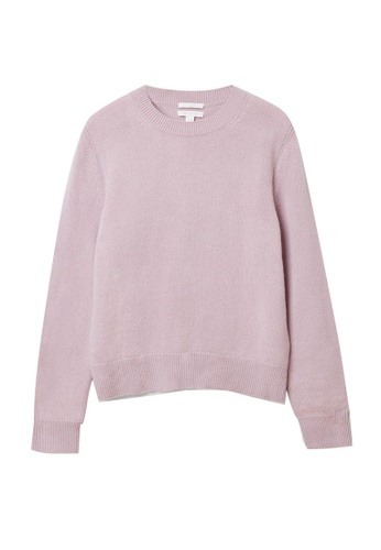 COS pink Cashmere Ribbed Detail Jumper 523A4AA9FE9D6FGS_1