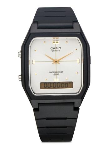 Casio black Casio AW-48HE-7AVDF For Men Analog-Digital Casual Watch CA843AC78XZLMY_1