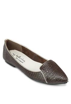 Stella 尖頭暗紋樂福鞋