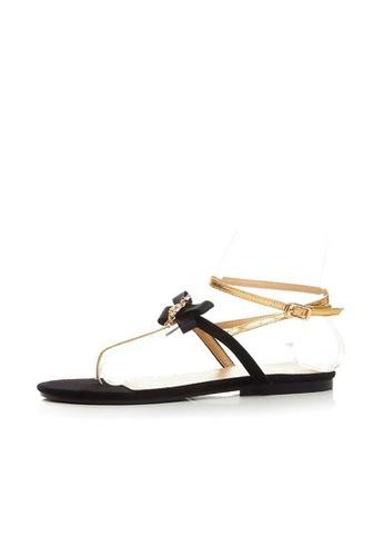 Sunnydaysweety black 2017 Korean Bow Leather Sandals UA04254BK SU443SH34VIBHK_1