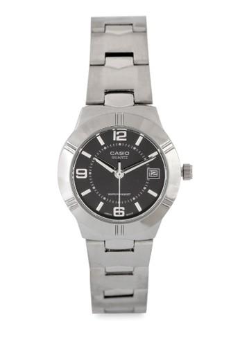 Casio silver Casio Jam Tangan Wanita - Silver Black - Stainless Steel - LTP-1241D-1A A4907AC55A092EGS_1