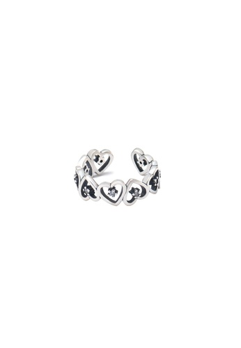 A-Excellence silver Premium S925 Sliver Geometric Ring 31833AC9B93689GS_1
