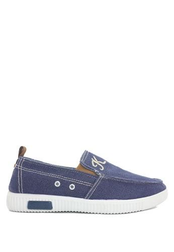 Dr. Kevin blue Dr.Kevin Men Sneaker Slip On 13272 - Blue DR982SH36LZBID_1