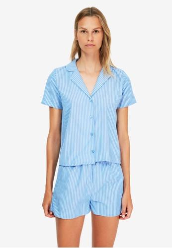 Trendyol blue Stripe Pyjama Set C86ABAAAE64FEEGS_1