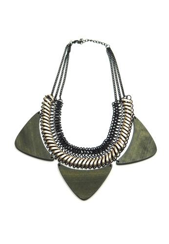 ACEXSPADE green Tritella Wood Necklace – Green 904B7ACB636B9DGS_1