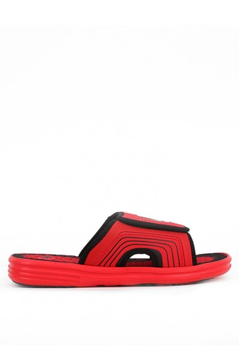 World Balance black and red Beach Break Mens Slippers 289E9SH76B251BGS_1