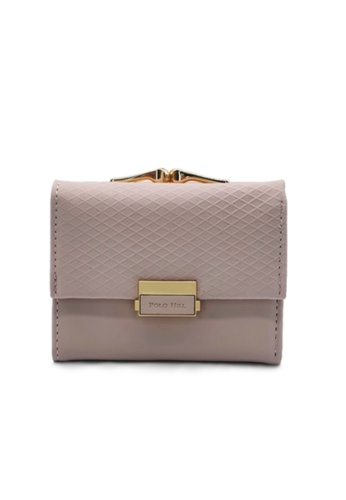 Polo Hill pink POLO HILL Ladies Tri-Fold with Kiss Lock Coin Pouch Purse 64DDCAC33E881BGS_1
