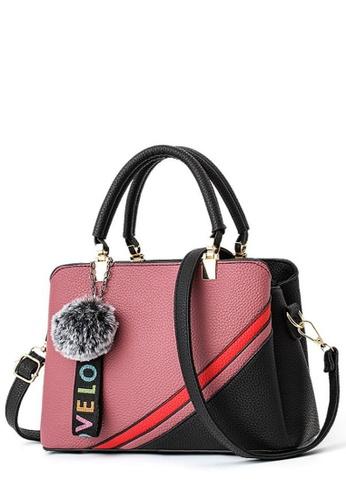 TCWK pink TCWK Korea Style Dark Pink Ladies Handbag TC258AC0SKYEMY_1