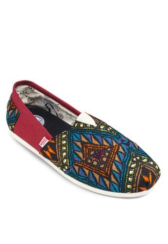Saltillo 民族風印花懶人鞋, 鞋, zalora 順豐懶人鞋