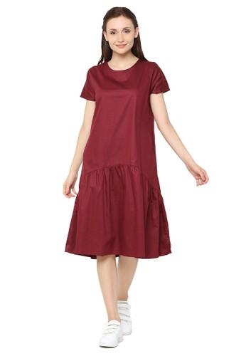 6e79cabcb778 madeleine red Olive Midi Dress Maroon 2310BAA9DC4D0EGS 1