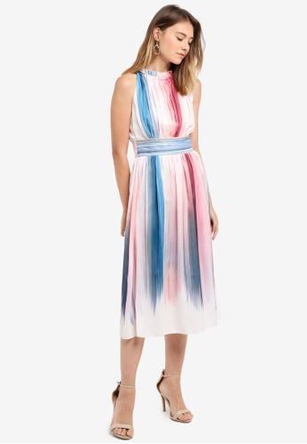 Little Mistress multi Dip Dye Print Midi Dress BFE24AA089D451GS_1