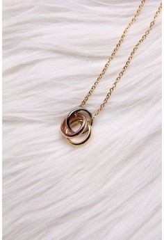 TRI-color rings necklace